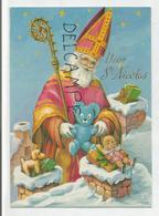 Vive Saint Nicolas. Saint Nicolas Sur Les Toits, Crosse Et Mitre, Jouets. - Saint-Nicolas