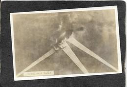 "World War 1-""Gotha Over Paris""Planes Bombing Area RPPC 1910s - Antique Real Photo(plain Back)postcard - Guerra 1914-18"