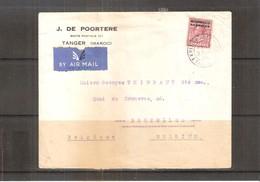 Maroc - Lettre Bureaux Anglais - 1936 Vers La Belgique Via Paris - (à Voir Recto-verso) - Grande-Bretagne (ex-colonies & Protectorats)