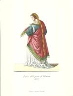 """1894""""-DAMA DEL SEGUITO DI ELEONORA-MCCCC-STAMPA PROPAGANDA LAB. FARM. MAESTRETTI """" STAMPA ORIG. - Pubblicitari"""