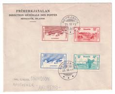 1940 - ISLANDE ISLAND LETTRE FRIMERKJASALAN REYKJAVIK TIMBRES SLYSAVARNIR CARL GUNNAR SIGURDSON APOTHEKER AKUREYRI - 1918-1944 Administration Autonome