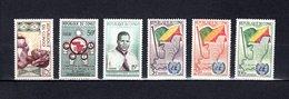 Congo  1959-61  .   Y&T  Nº    135-136-137-139/141    *   Sin Goma - República Del Congo (1960-64)