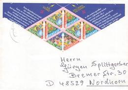 NETHERLANDS - LETTER 1993 ENSCHEDE - NORDHORN/GERMANY Mi #1496-1497 - Brieven En Documenten
