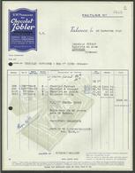 """ CHOCOLAT TOBLER "" / TALENCE - GIRONDE 1945 - Food"