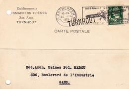 Lettre Turnhout  Établissement Mesmaeker Frères Anvers Antwerpen 1935 Gand Belgique - 1932 Ceres En Mercurius