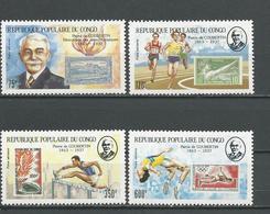 CONGO Scott C382-C385 Yvert PA375-PA378 (4) ** Cote 11,00 $ 1987 - Congo - Brazzaville