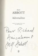 Dedicace De Jeff Abbott - Adrénaline - Livres, BD, Revues
