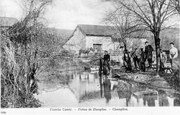 CPA De CHAMPLIVE (Doubs) - Plateau De Champlive (Le Ruisseau Du Gour). Edit. O.Janier. N° 6796. Circulée En 1906. - Altri Comuni