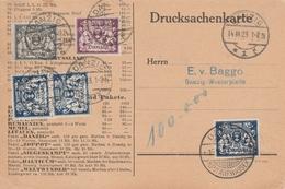 Danzig Carte Imprimés 1923 - Danzig