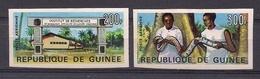 GUINEA 1967 - INSTITUTO DE BIOLOGIA - SERPIENTES - SNAKES - YVERT PA Nº 69/70** SIN DENTAR-NON DENTELE - IMPERFORATED - República De Guinea (1958-...)