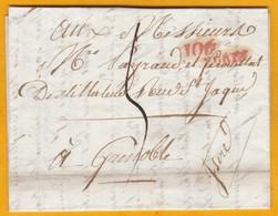 1811 - Département Conquis De Marengo 106 - LAC D'Alexandrie, Egypte Vers Grenoble - Règne Napoléon 1er - Distillateur - Postmark Collection (Covers)