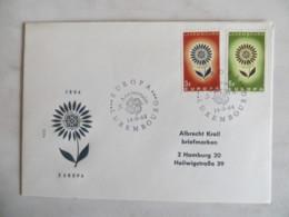 64/02) Luxemburg 1964, Ersttagsbrief, FDC, Ersttagsstempel - 1964