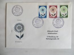 64/04) Portugal 1964, Ersttagsbrief, FDC, Ersttagsstempel - Europa-CEPT