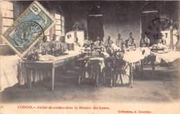 Congo - Ethnic V / 96 - Atelier De Couture - Belle Oblitération - Défaut - Décollée - Congo Français - Autres