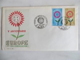 64/07) Spanien 1964, Ersttagsbrief, FDC, Ersttagsstempel - Europa-CEPT