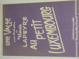 Au Petit Luxembourg - Valse - Partitions Musicales Anciennes