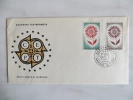 64/08) Griechenland 1964, Ersttagsbrief, FDC, Ersttagsstempel - Europa-CEPT