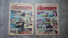 Lot 2 Magazines L'astucieux N° 5 Et 6 Juin 1947 Superman Bande Dessinée Rare - Autre Magazines