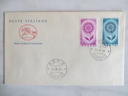 64/11) Italien 1964, Ersttagsbrief, FDC, Ersttagsstempel - Europa-CEPT
