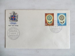 64/13) Island 1964, Ersttagsbrief, FDC, Ersttagsstempel - Europa-CEPT
