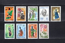 Congo  1967  .   Y&T  Nº    203-204-205-206-207/210-211    *   Sin  Goma - República Democrática Del Congo (1964-71)