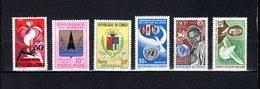Congo  1967-68  .   Y&T  Nº    212-213/214-215-216-217    *   Sin  Goma - República Democrática Del Congo (1964-71)