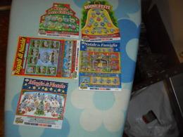 5 Biglietti GRATTA E VINCI Tematica NATALE - Lottery Tickets