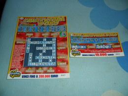 2 Biglietti GRATTA E VINCI CRUCIVERBA D'ORO + MINI CRUCIVERBA D'ORO - Billets De Loterie