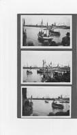 3 Photos Noirs Et Blancs SAINT MALO Bateaux - Bateaux