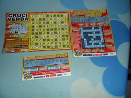 3 Biglietti GRATTA E VINCI CRUCIVERBA D'ORO + MINI CRUCIVERBA D'ORO + CRUCIVERBA - Lottery Tickets