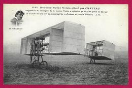 CPA Aviation - Nouveau Biplan Voisin Piloté Par Château - ....-1914: Vorläufer