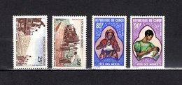 Congo  1970  .   Y&T  Nº    261/262-263/264    *   Sin  Goma - República Democrática Del Congo (1964-71)