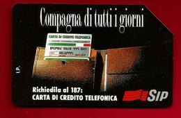 Télécarte Téléphone Italie Compagna Di Tutti I Giorni Carta Di Credito Telefonica 5000 Lire - Sip - Validité 31-12-1995 - Italie