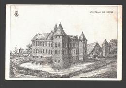 Heers - Château De Heers - Kasteel - Tekening / Illustratie - Blanco Rug - Heers