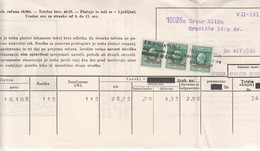 3341   SLOVENIJA ITALIEN  BESETZUNG     LUBIANA  DOKUMENT - Occ. Allemande: Lubiana
