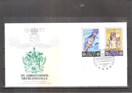 FDC From St.Christopher-Nevis-Anguilla - Silver Jubilee - 1977 (to See) - St.Kitts-et-Nevis ( 1983-...)