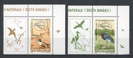 ROUMANIE 1999 N° 4541/4542 ** Neufs MNH  Superbes C 2 € Faune Oiseaux Canards Cigogne Parc Danube Birds Animaux EUROPA - 1948-.... Republics