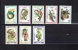 Congo  1971  .   Y&T  Nº    289/296    *   Sin  Goma - República Democrática Del Congo (1964-71)