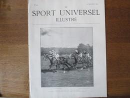LE SPORT UNIVERSEL ILLUSTRE N°427 25 SEPTEMBRE 1904 CONCOURS HIPPIQUE DE SPA,DEPLACEMENT AU MAGNET,DROLERIES SPORTIVES - Bücher, Zeitschriften, Comics