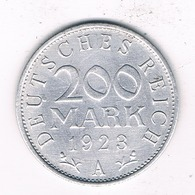 200 MARK 1923 A  DUITSLAND /8203// - [ 3] 1918-1933 : Republique De Weimar
