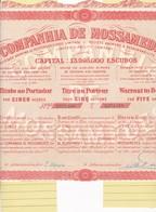Th3LOT (4 Titres) : MOSSAMEDES - Action De 450 Escudos19282 Différentes (21) - Actions & Titres