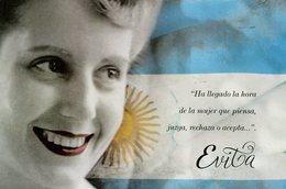 EVITA PERON PERONISMO ENTERO ARGENTINA CIRCULATED OBLITERES 2012 FDC -LILHU - Famous Ladies