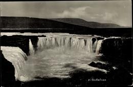 Cp Þingeyjarsveit Island, Goðafoss, Wasserfall - Island