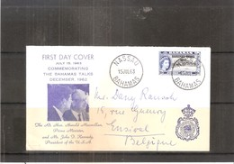 FDC From Bahamas To Belgium - Bahamas Talks 1962 - Harold Macmillan And J.F.Kennedy (to See) - Bahamas (...-1973)