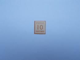 FAUX TIMBRE DE 10 C BISTRE-BRUN AVEC GOMME - Elsass-Lothringen