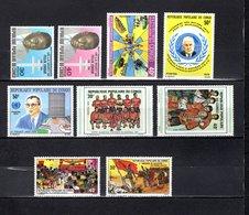 Congo  1975  .   Y&T  Nº    366/367-368-369-370-375/376-381-382   *   Sin  Goma - República Democrática Del Congo (1964-71)