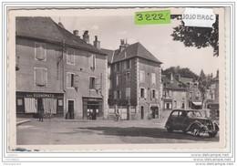 7539 POSTCARD AK CARTE PHOTO 3222 DONZENAC PLACE DE LA MAIRIE CAFE EPICERIE LES ECONOMATS TRACTION - Frankreich