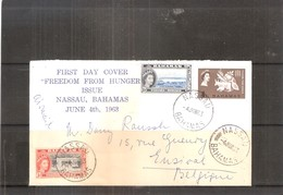 FDC From Bahamas To Belgium - Freedom From Hunger 1963 (to See) - Bahamas (...-1973)