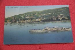 Lago Maggiore  Stresa Vista Dal Lago Con Piroscafo Di Passaggio 1912 - Andere Städte