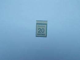 FAUX TIMBRE DE 20 C BLEU AVEC GOMME - Elsass-Lothringen